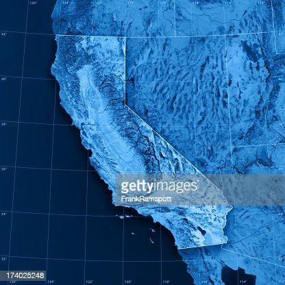California Topographic Map