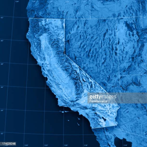 California Topographic Map