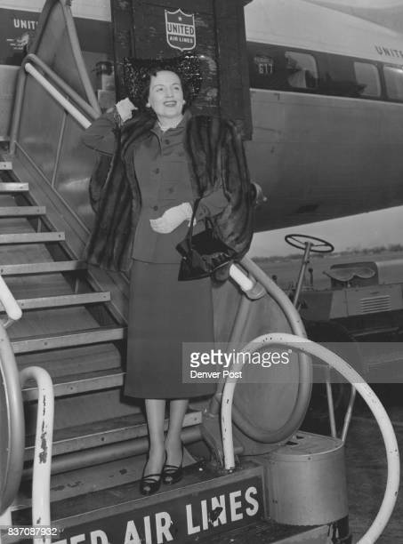 California Traveler Mrs Gail L Ireland departed Saturday aboard a plane for a three week holiday in Los Angeles and long beach Credit The Denver Post