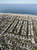 USA, California, Venice Beach, aerial view of Venice Canals