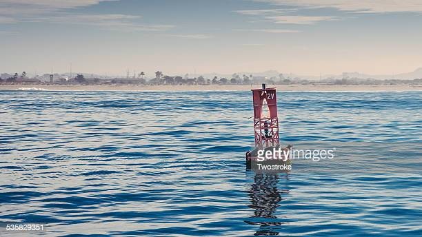USA, California, Ventura County, Red buoy