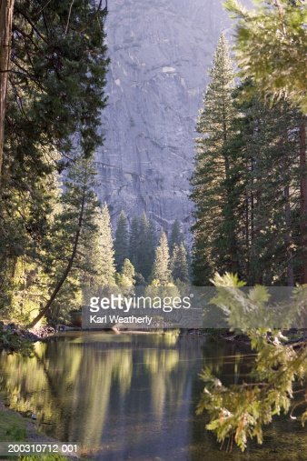 USA, California, Yosemite National Park, Merced River : Stock Photo