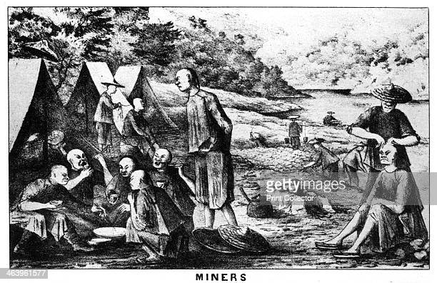 Californian gold miners 19th century From Old California In Pictures and Story by Stewart Edward White and published by Doubleday Doran and Company