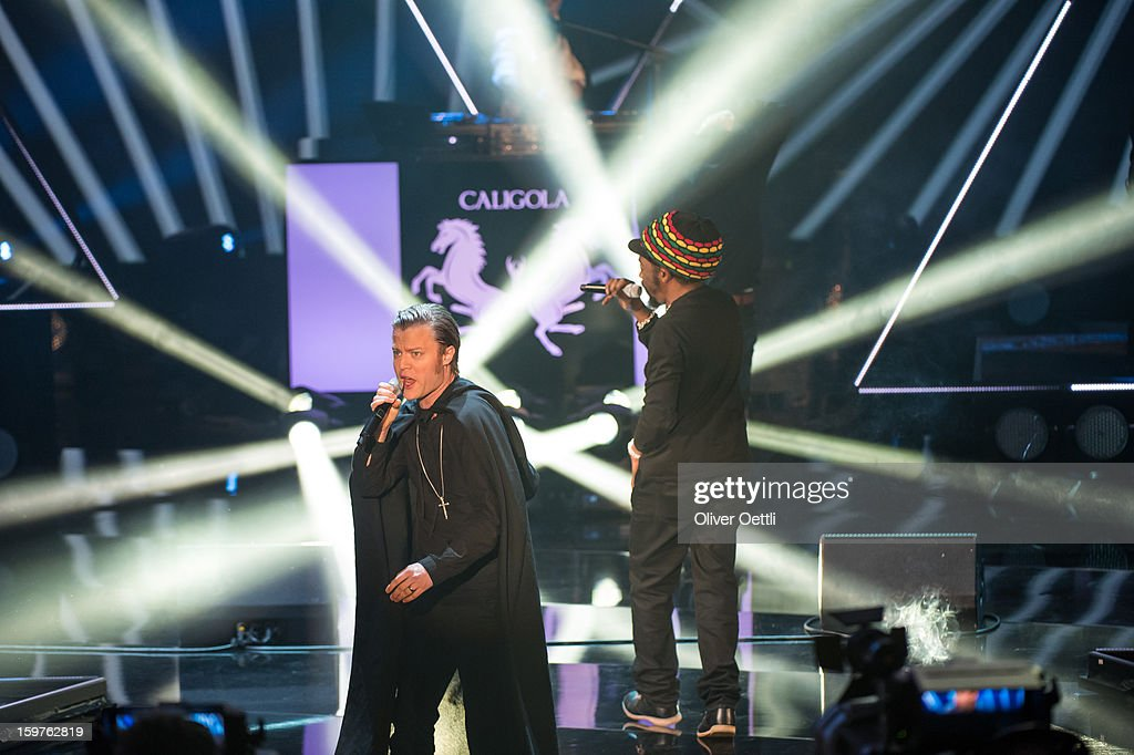 Caligola attends the 'Wetten dass..?' show on January 19, 2013 in Offenburg, Germany.