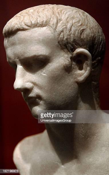 Caligula Gaius Julius Caesar Roman Emperor Bust Found in the Tiber river Marble Palazzo Massimo National Roman Museum Rome Italy