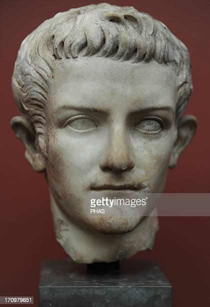 Caligula Gaius Julius Caesar Roman Emperor Bust Marble Carlsberg Glyptotek Museum Copenhagen Denmark