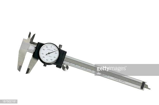 Caliper equipment on negative white studio shot