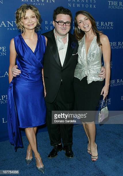 Calista Flockhart Alber Elbaz and Kristin Davis during Fall 2004 Lanvin Fashion Show Benefitting The Rape Foundation at Barneys New York in Beverly...