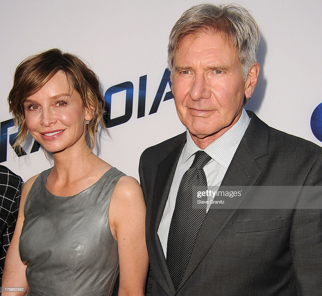 Calista Flockhart and Harrison Ford arrives at the 'Paranoia' - Los Angeles Premiere at DGA Theater on August 8, 2013 in Los Angeles, California.
