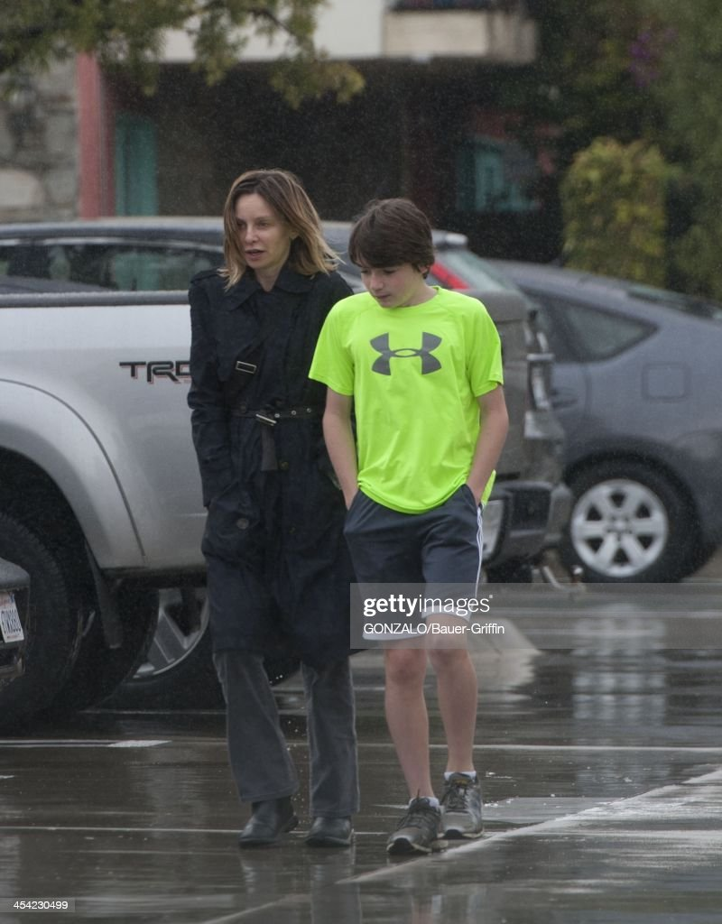 Calista Flockhart and her son Liam Flockhart are seen on December 07, 2013 in Los Angeles, California.
