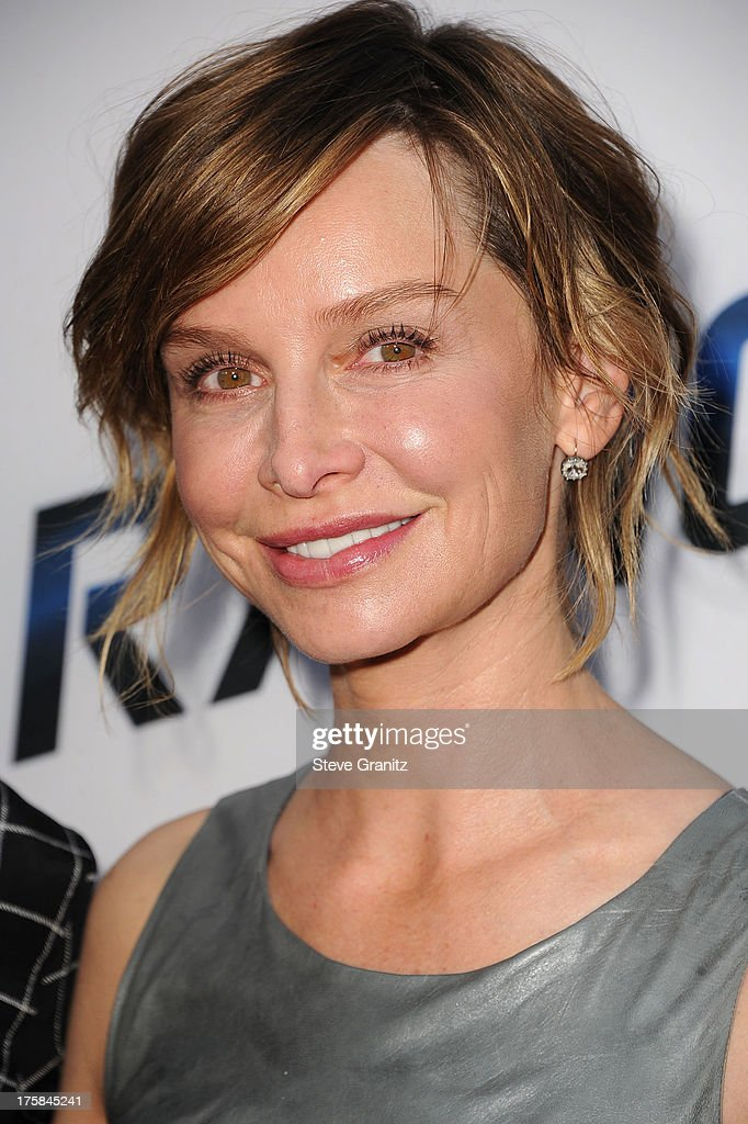 Calista Flockhart arrives at the 'Paranoia' - Los Angeles Premiere at DGA Theater on August 8, 2013 in Los Angeles, California.