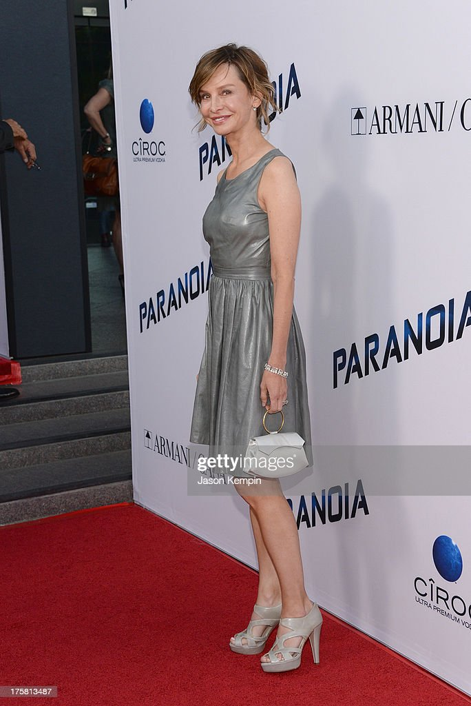 Calista Flockhart attends the premiere of Relativity Media's 'Paranoia' at DGA Theater on August 8, 2013 in Los Angeles, California.