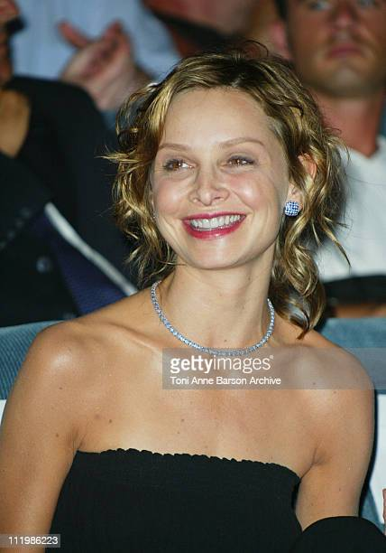 Calista Flockhart during Deauville 2002 Tribute to Harrison Ford at CID Deauville in Deauville France