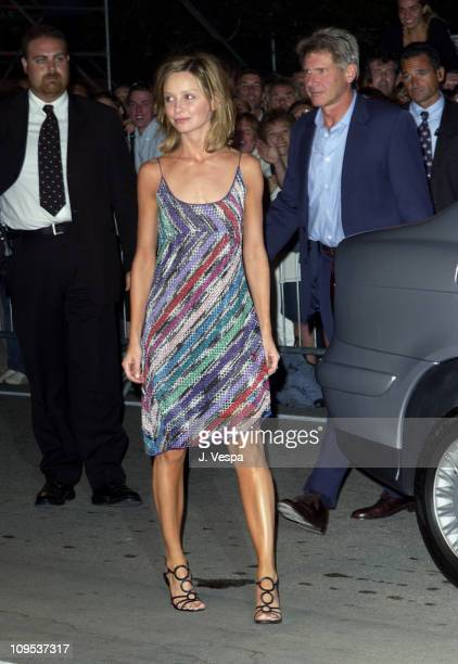 Calista Flockhart Harrison Ford during 2002 Venice Film Festival 'K19 The Widowmaker' Premiere at Palazzo del Cinema in Venice Lido Italy