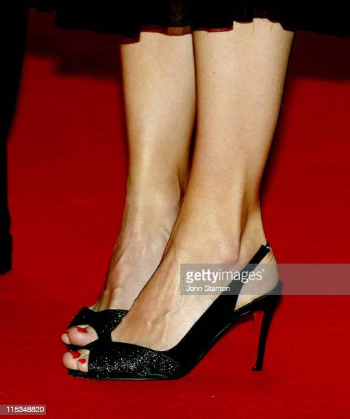 Calista Flockhart shoes during 'Firewall' Sydney Premiere at Greater Union Bondi Junction in Sydney New South Wales Australia