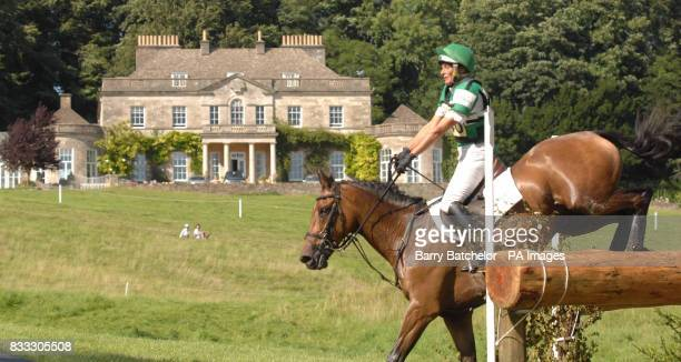 Call Again Cavalier and Mary King pass the house at Gatcombe Park during The Festival of British Eventing at Gatcombe Park Gloucestershire