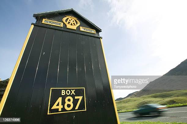 AA call box at Dunmail Raise