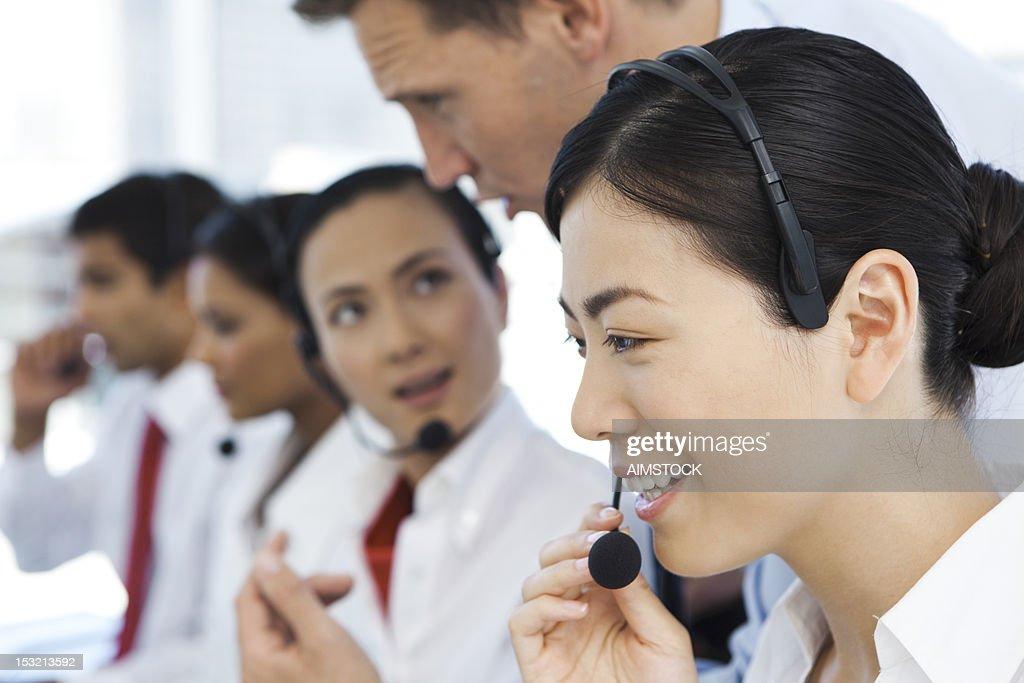 Call center representatives : Stock Photo