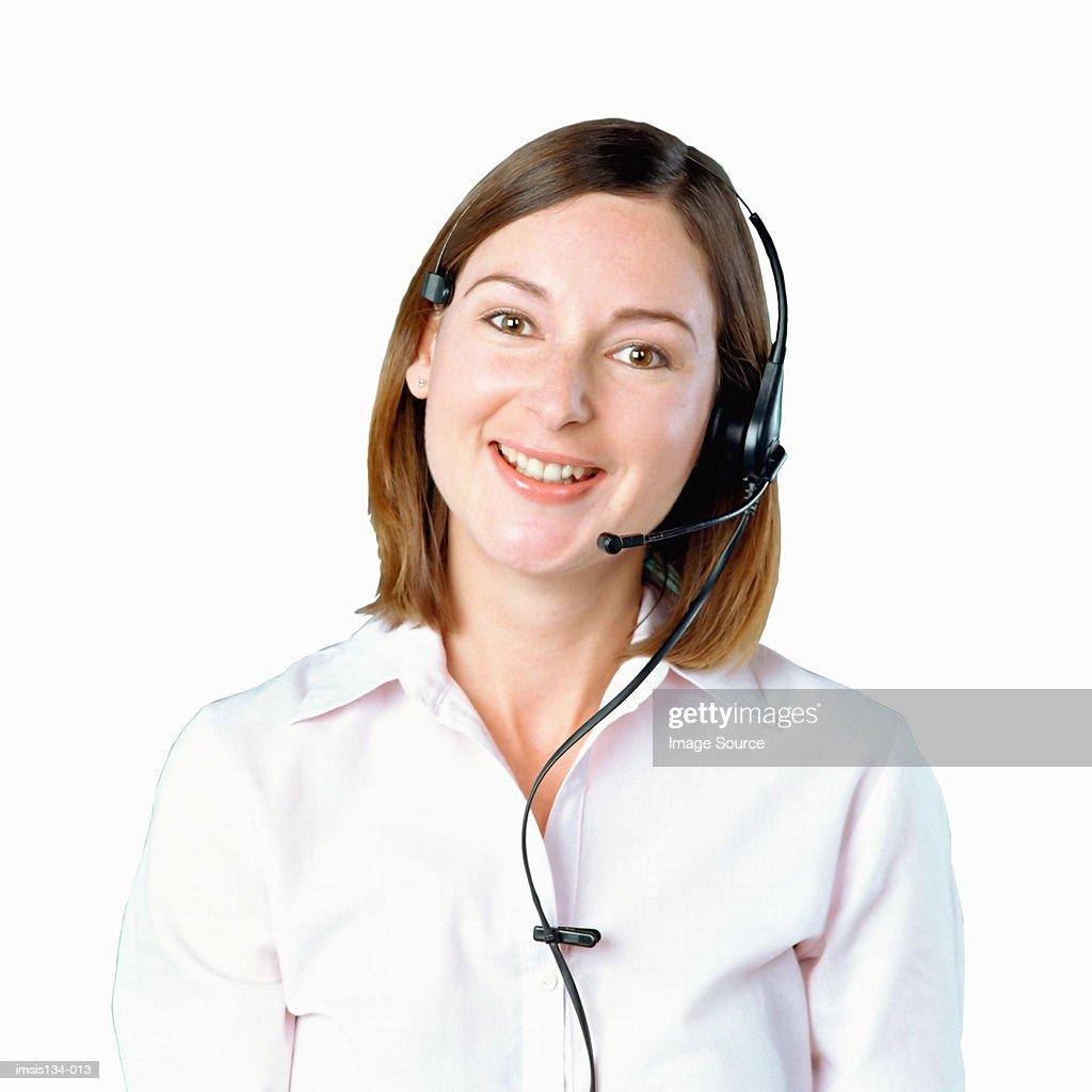 Call centre operator : Stock Photo