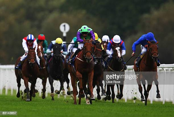 Call it on riden by Saleem Golam leads to win the European Breeders Fund maiden stakes run at Royal Windsor Race Course on October 6 2008 in Windsor...