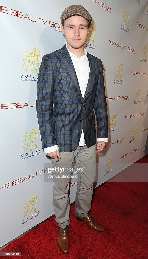 Callan McAuliffe arrives at 'The Beauty Book For Brain Cancer' Edition Two Launch Party sponsored by Voices Against Brain Cancer on December 3, 2015 in Los Angeles, California.