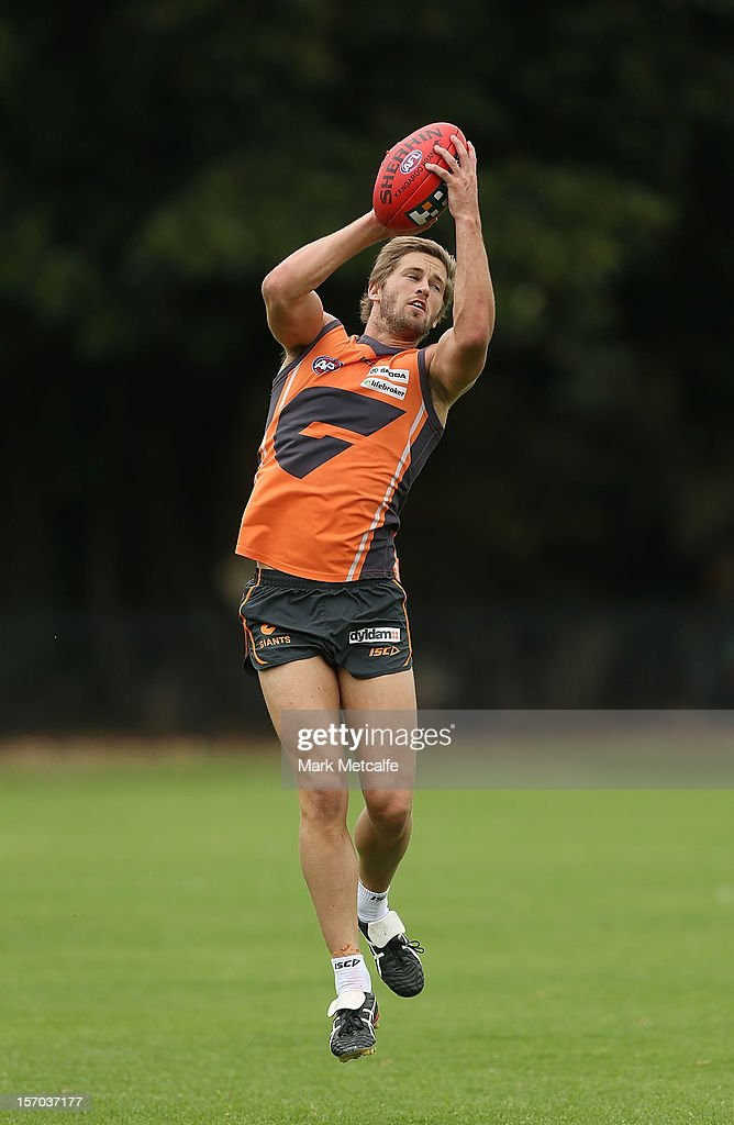 Callan Ward in action during a Greater Western Sydney Giants AFL pre-season training session at Lakeside Oval on November 28, 2012 in Sydney, Australia.