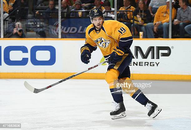 Calle Jarnkrok of the Nashville Predators skates against the Chicago Blackhawks in Game Five of the Western Conference Quarterfinals during the 2015...