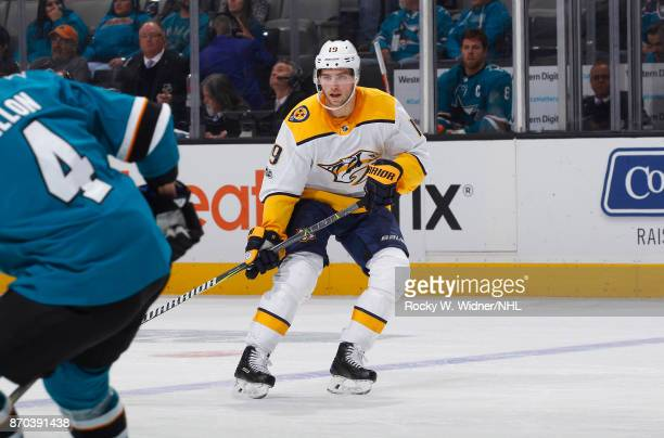 Calle Jarnkrok of the Nashville Predators skates against the San Jose Sharks at SAP Center on November 1 2017 in San Jose California