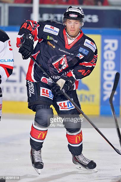 Calle Rosen during a Hockey Allsvenskan game in Karlskrona Sweden