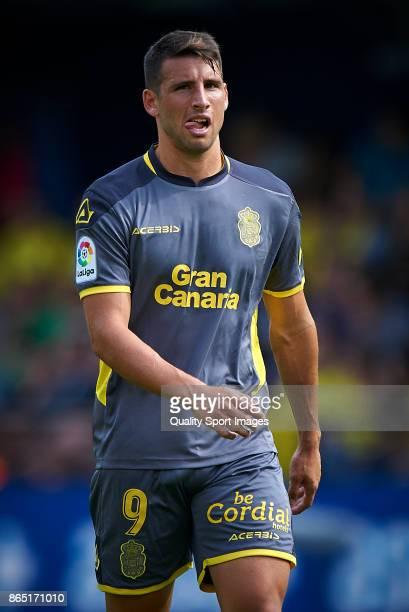 Calleri of Las Palmas looks on during the La Liga match between Villarreal and Las Palmas at Estadio De La Ceramica on October 22 2017 in Villarreal...