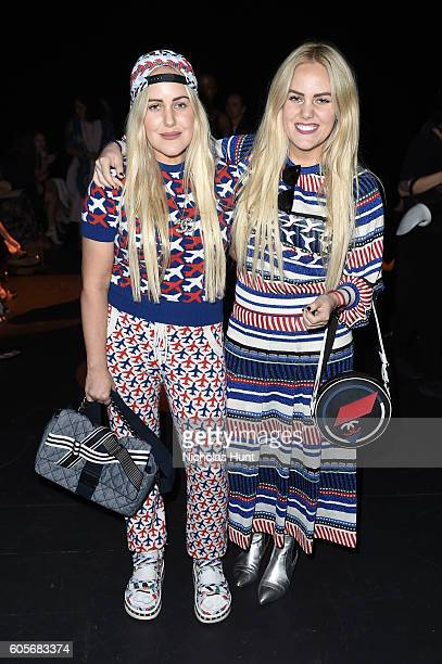 Calli Beckerman and Sam Beckerman attend the Naeem Khan fashion show during New York Fashion Week The Shows at The Arc Skylight at Moynihan Station...