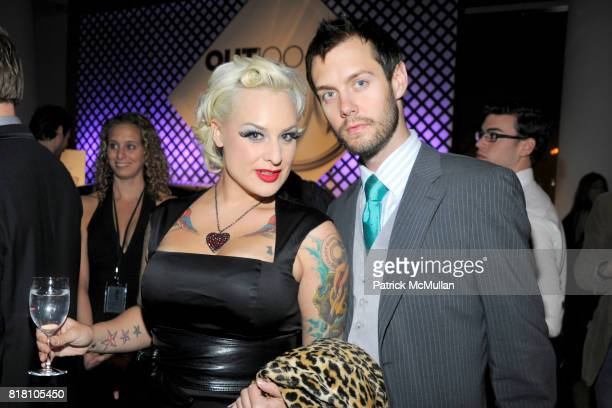 Calli Carvajal and Adam McLay attend OUT 100 Presented by BUICK at IAC Building on November 18 2010 in New York City