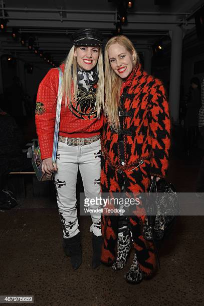Callie Beckerman and Sam Beckerman attends the Alexandre Herchcovitch show during MADE Fashion Week Fall 2014 at Milk Studios on February 8 2014 in...