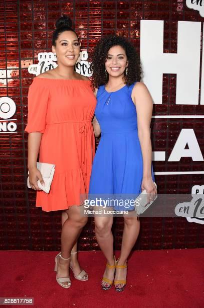 Callie N'Diaye and Noreen Refai attend HBO Latino x Pedro Capo En Letra de Otro at La Marina Restaurant Bar Beach Lounge on August 9 2017 in New York...