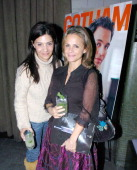 Callie Thorne and Amy Sedaris at Gotham Magazine Celebrates Cover Model Mark Ruffalo with a Screening of his New Film 'Zodiac' at Cellar Bar at the...