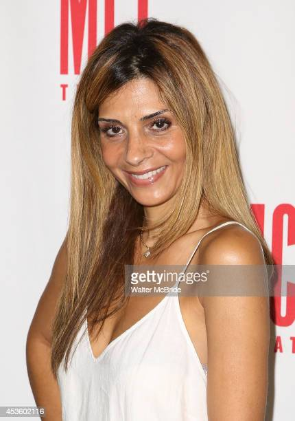 Callie Thorne attends 'The Money Shot' meetngreet at the Second Stage Theatre on August 14 2014 in New York City
