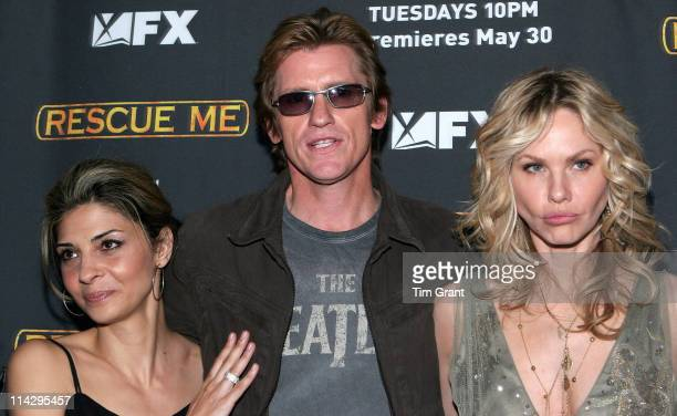 Callie Thorne Denis Leary and Andrea Roth during 'Rescue Me' Season Three New York Premiere Screening at Ziegfeld in New York City New York United...