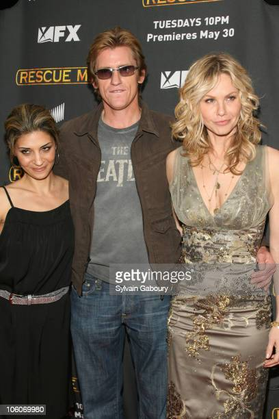 Callie Thorne Denis Leary and Andrea Roth during The Season Three New York Premiere Screening of 'Rescue Me' arrivals at The Ziegfeld Theater in New...