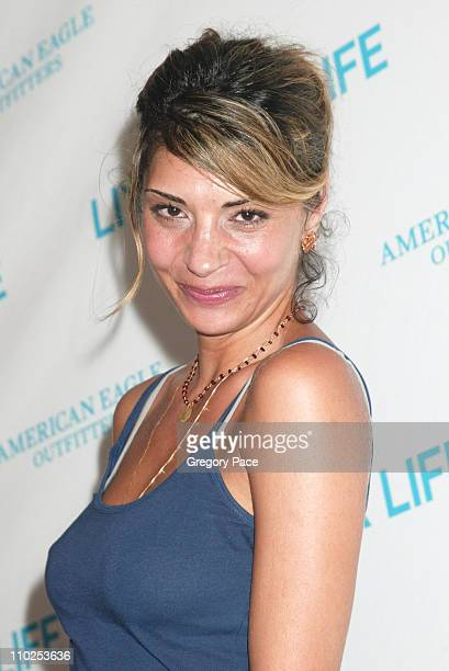 Callie Thorne during American Eagle Announces Six Winners of National 'Live Your Life' Contest at Union Square Celebration Inside Party and Arrivals...