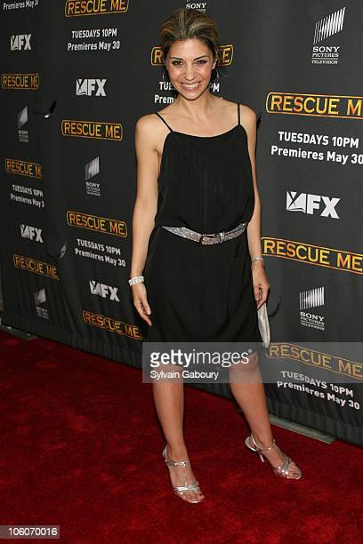 Callie Thorne during The Season Three New York Premiere Screening of 'Rescue Me' arrivals at The Ziegfeld Theater in New York New York United States