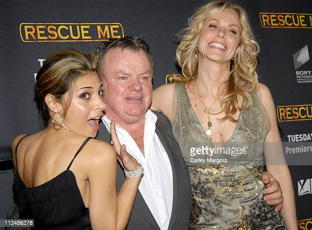 Callie Thorne Jack McGee and Andrea Roth during 'Rescue Me' Season Three New York Premiere at Ziegfeld Theater in New York City New York United States