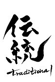 Calligraphy traditional and Japanese text traditional