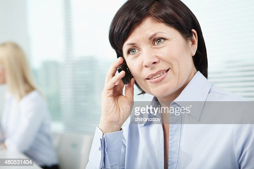 Calling woman : Stock Photo