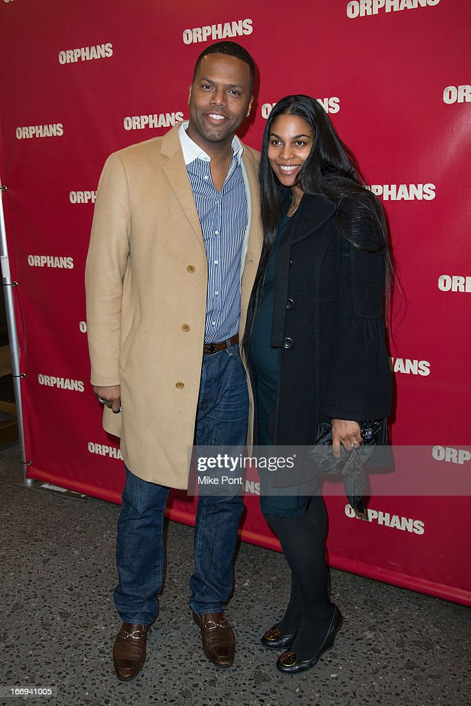 AJ Calloway and Dionne Walker attend the 'Orphans' Broadway opening night at the Gerald Schoenfeld Theatre on April 18, 2013 in New York City.