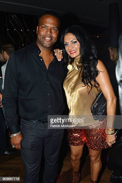 Calloway and Donna D'Cruz attend the Kola House Opening Party at Kola House on September 20 2016 in New York City