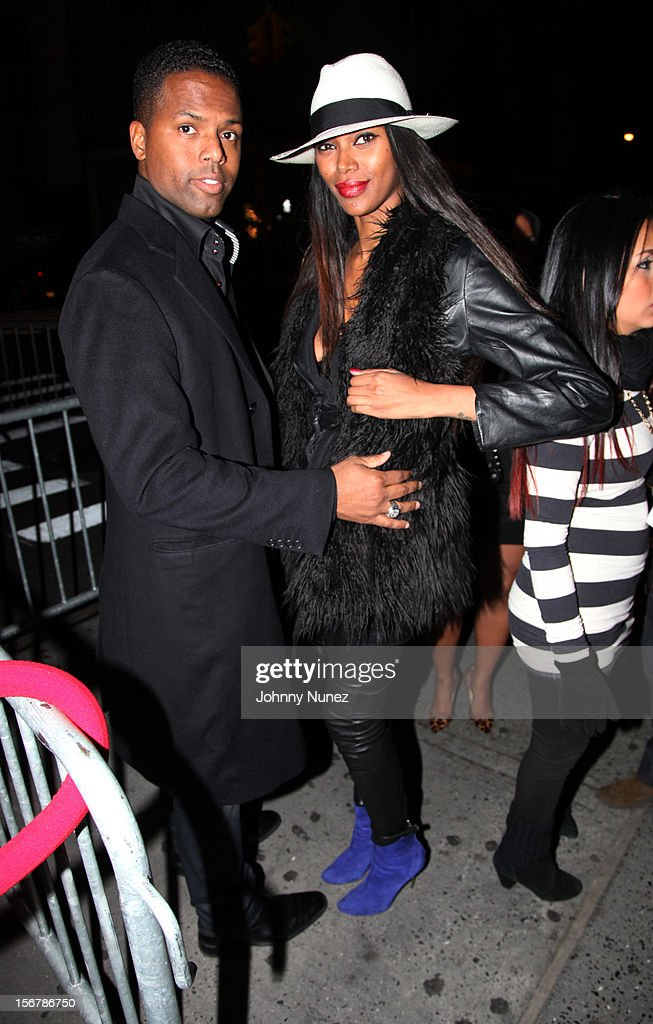 AJ Calloway and Jessica White attend Rihanna's 'Unapologetic' Record Release Party at 40 / 40 Club on November 20, 2012 in New York City.