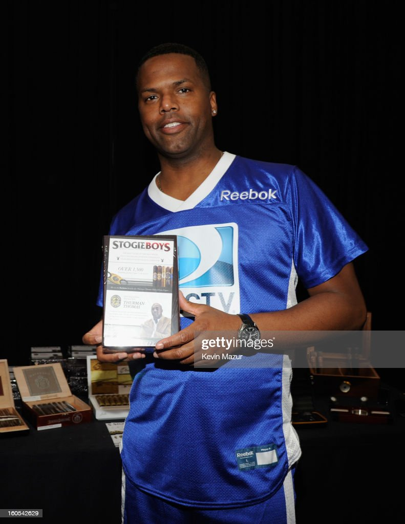 AJ Calloway attends DIRECTV'S 7th annual celebrity Beach Bowl at DTV SuperFan Stadium at Mardi Gras World on February 2, 2013 in New Orleans, Louisiana.