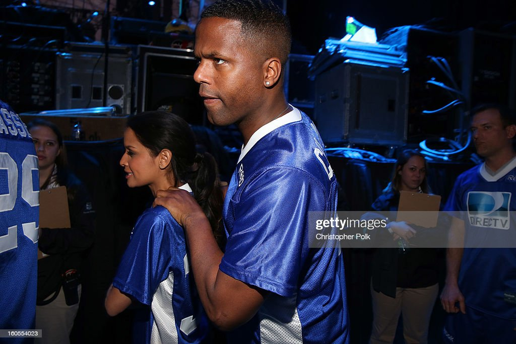 AJ Calloway attends DIRECTV'S Seventh Annual Celebrity Beach Bowl at DTV SuperFan Stadium at Mardi Gras World on February 2, 2013 in New Orleans, Louisiana.