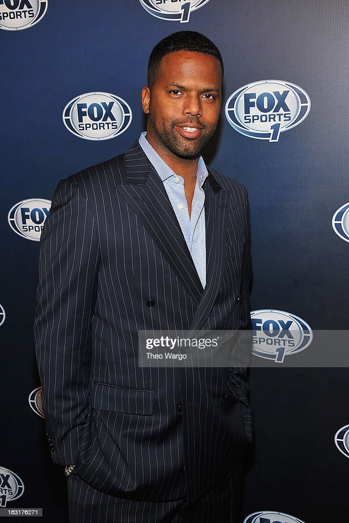 AJ Calloway attends the 2013 Fox Sports Media Group Upfront after party at Roseland Ballroom on March 5, 2013 in New York City.