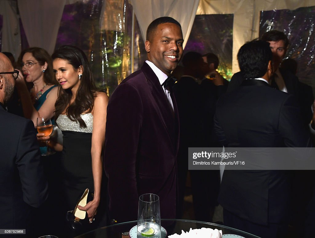 A.J. Calloway attends the Bloomberg & Vanity Fair cocktail reception following the 2015 WHCA Dinner at the residence of the French Ambassador on April 30, 2016 in Washington, DC.